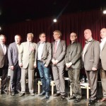 (Deutsch) vlnr: Dr. Gerhard Pramhas, DI Franz Seywerth, Dr. Franz Kerschbaum, Dr.Erhard Busek, Mark Perry, Mag. Harald Hrdlicka, Erwin Redl, Wolfgang Fuehrer, Michael Scherff